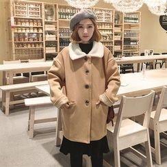 Dute - Collared Wool Blend Coat