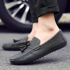 Ireoul - Tasseled Faux Leather Loafers
