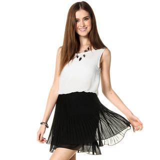 59 Seconds - Mushroom Pleat Sleeveless Dress