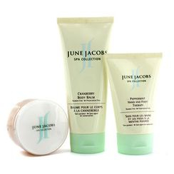 June Jacobs - At Home Spa Kit: Peeling Masque + Hand and Foot Therapy + Body Balm