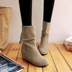 Shoes Galore - Hidden Wedge Short Boots