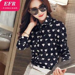 Eferu - Heart Print Shirt