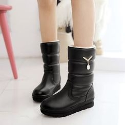 Shoes Galore - Padded Short Boots