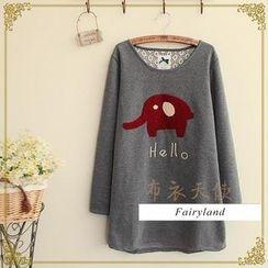 Fairyland - Elephant Appliqué T-Shirt