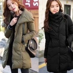 Romantica - Mock-Neck Buttoned Padded Coat