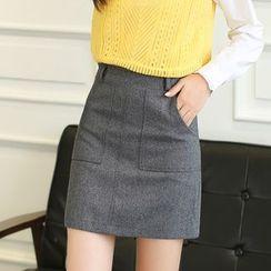 LITI - Wool A-line Skirt