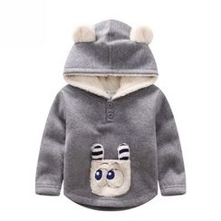 Endymion - Kids Dog Applique Fleece Lined Hoodie