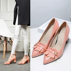 CITTA - Fringed Pointy Pumps