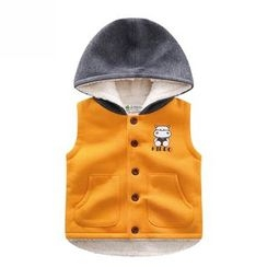 Endymion - Kids Hippo Print Hooded Vest