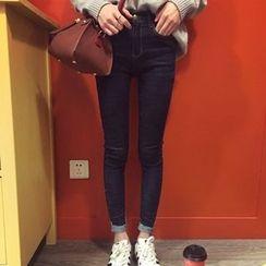 YUKISHU - Roll Hem Skinny Jeans