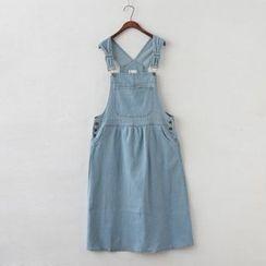P.E.I. Girl - Denim Jumper Midi Skirt