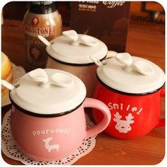 默默愛 - 印花陶瓷杯