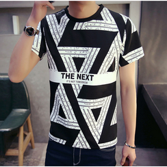 Consto - Patterned Short-Sleeve T-shirt