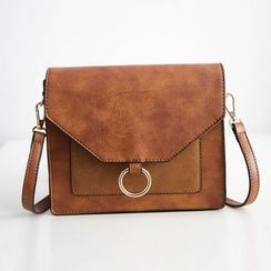 Secret Garden - Faux Leather Crossbody Bag