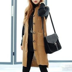 Seoul Fashion - Long Rib-Knit Vest