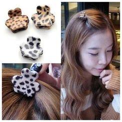 L for Love - Leopard Print Mini Hair Claw