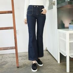 Envy Look - Stitched Boot-Cut Jeans