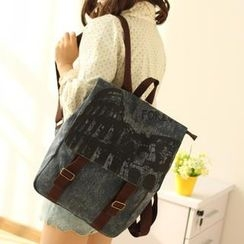 Canvas Love - Double Buckle Canvas Backpack