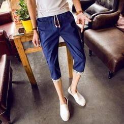 JVR - Drawstring Cropped Pants