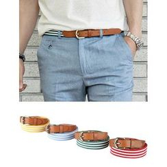 STYLEMAN - Canvas Striped Belt