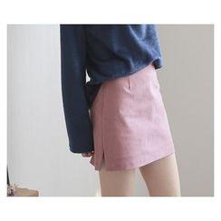 demavie - Slit-Side Pencil Skirt