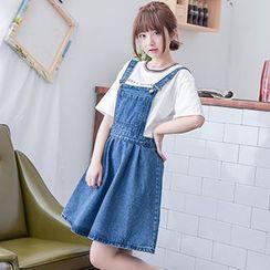 Moriville - Denim Jumper Skirt