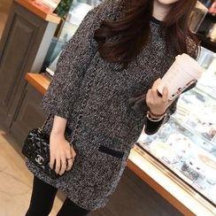 Fashion Street - Set: Melange Knit Top + Skirt