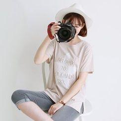 CLICK - Cotton Lettering T-Shirt