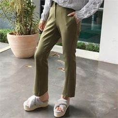 QNIGIRLS - Colored Boot-Cut Pants