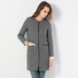 YesStyle Z - Collarless Zip Coat