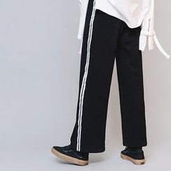 chuu - Contrast-Trim Wide-Leg Sweatpants