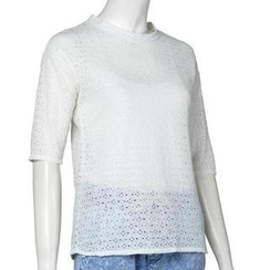 Jolly Club - Elbow-Sleeve Lace Top