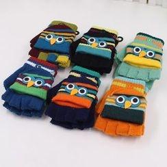 Evora - Kids Owl Applique Gloves