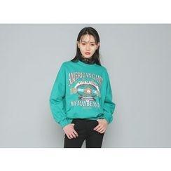 Envy Look - Lettering Printed Sweatshirt