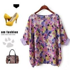Ainvyi - Floral Elbow-Sleeve Top