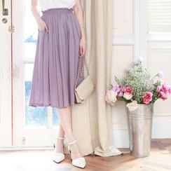 Tokyo Fashion - Elastic Waist Midi Skirt