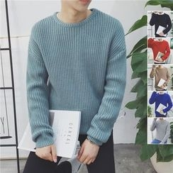 ZZP HOMME - Chunky Knit Crewneck Sweater