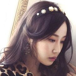 Ticoo - Faux Pearl Flower Hair Band
