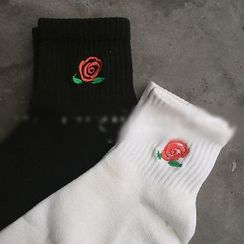 GREEN ZAKKA - Embroidered Socks