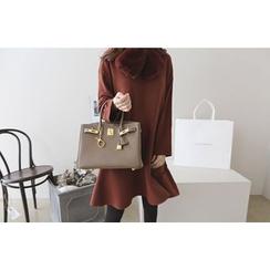 DAILY LOOK - A-Line Wool Blend Dress