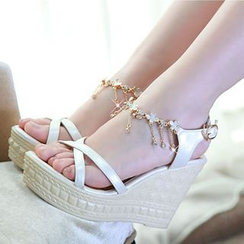 Freesia - Platform Wedge Sandals