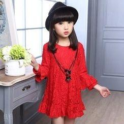Famula - Kids Long-Sleeve Lace Dress