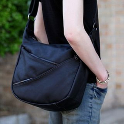 Asphalt - Faux-Leather Cross Bag
