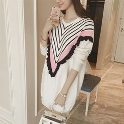 Diado - Long-Sleeve Striped Knit Dress