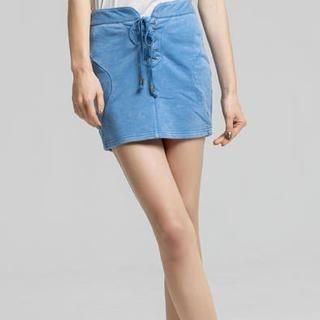 AngelCitiz - Lace-Up Skirt
