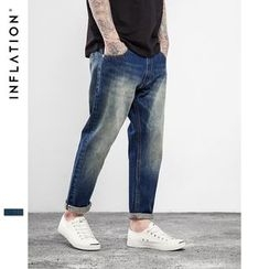 Newin - Cropped Straight Fit Jeans