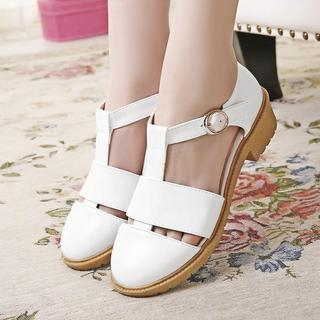 Pretty in Boots - Ankle Strap Sandals