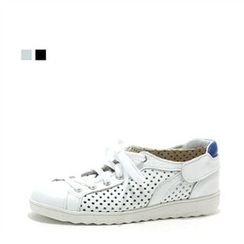 MODELSIS - Genuine Leather Perforated Sneakers