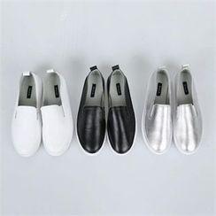 PINKSISLY - Genuine Leather Slip-Ons