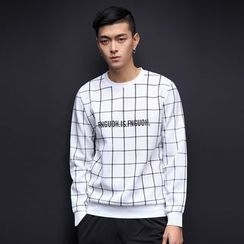 Alvicio - Letter Check Sweatshirt